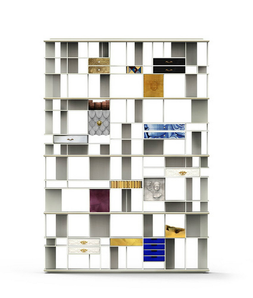 boca do lobo coleccionista custom bookcase shelf Beatriz Milhazes The colors and concepts of Beatriz Milhazes coleccionista custom bookcase shelf 01