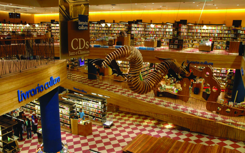 the world's most beautiful bookstores THE WORLD'S MOST BEAUTIFUL BOOKSTORES coveted The World   s Most Beautiful Bookstores Livraria Cultura Sao Paulo Brazil