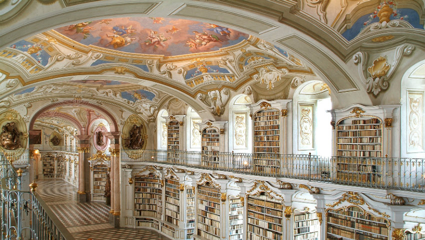 Top 50 Most Amazing Libraries in the World - ADMONT ABBEY LIBRARY most amazing libraries in the world Top 50 Most Amazing Libraries in the World Top 50 Most Amazing Libraries in the World ADMONT ABBEY LIBRARY