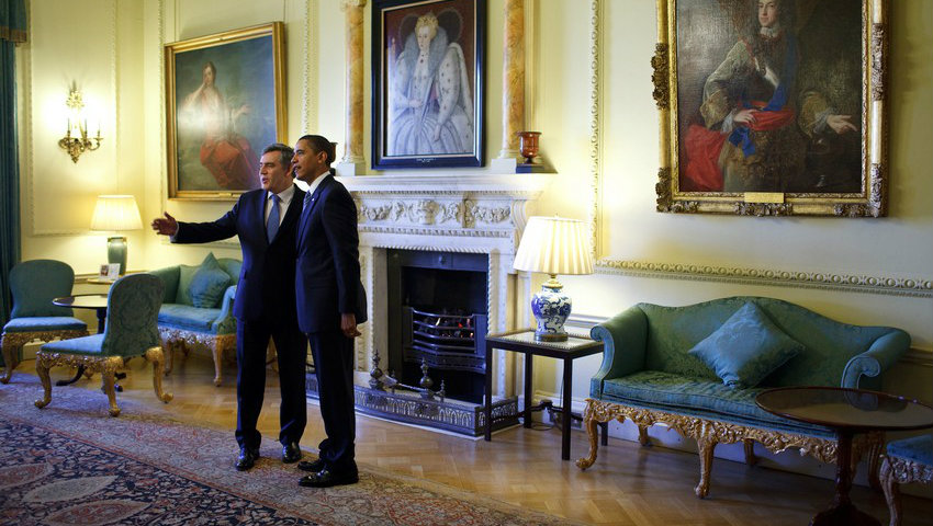 New Book New Book:  Peek Inside 10 Downing Street Barack Obama and Gordon Brown in 10 Downing Street 1