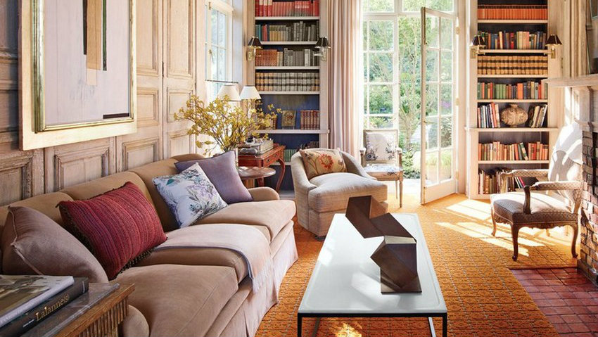 Home Libraries Stylish Home Libraries by Architectural Digest bilhuber lee stuart rolf seattle home 03