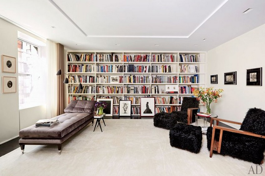 You Must-See These 10 Contemporary Home Libraries by AD Home Libraries You Must-See These 10 Contemporary Home Libraries by AD dam images decor 2013 12 gorvy gold amy gold brett gorvy 04 manhattan apartment library