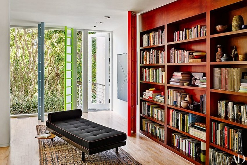 You Must-See These 10 Contemporary Home Libraries by AD Home Libraries You Must-See These 10 Contemporary Home Libraries by AD maggie kayne los angeles home 06