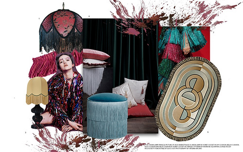Be Inspired by Two Moodboards that Highlight the Fringe Design Trend 6