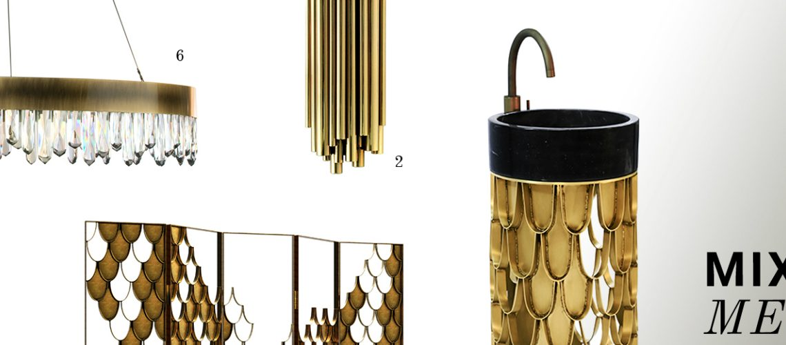 Mix Metals Is the Perfect 2019 Design Trend for Bathroom Interiors