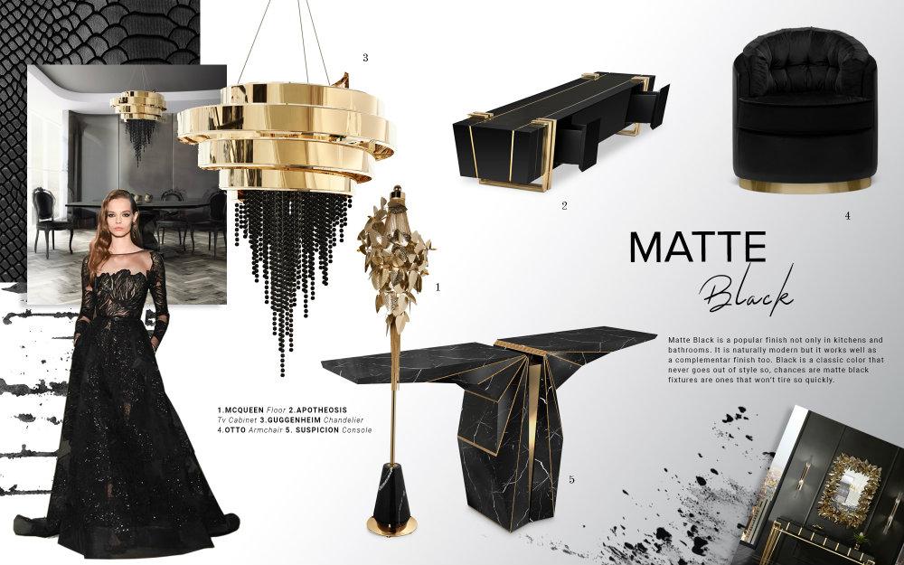 Color Trends 2019: Introduce Matte Black Into Your Home Decor