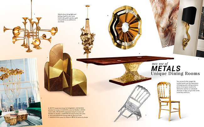 Metals: A Shining Design Trend For Your Dining Room metals Metals: A Shining Design Trend For Your Dining Room Enhance Your Dining Room Design With New Metals 1