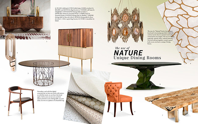 interior design trends Interior Design Trends 2019 – Decor with Geometric Patterns moodboard trends 2019 nature