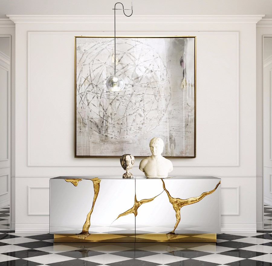 Metals: A Shining Design Trend For Your Entryway