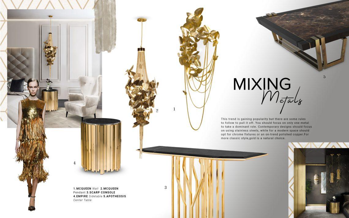 mix metals Interior Design Trends: Decor With Mix Metals mix metals