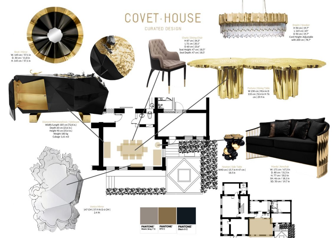 Color Trends 2019: Introduce Black And Gold Into Your Home Decor