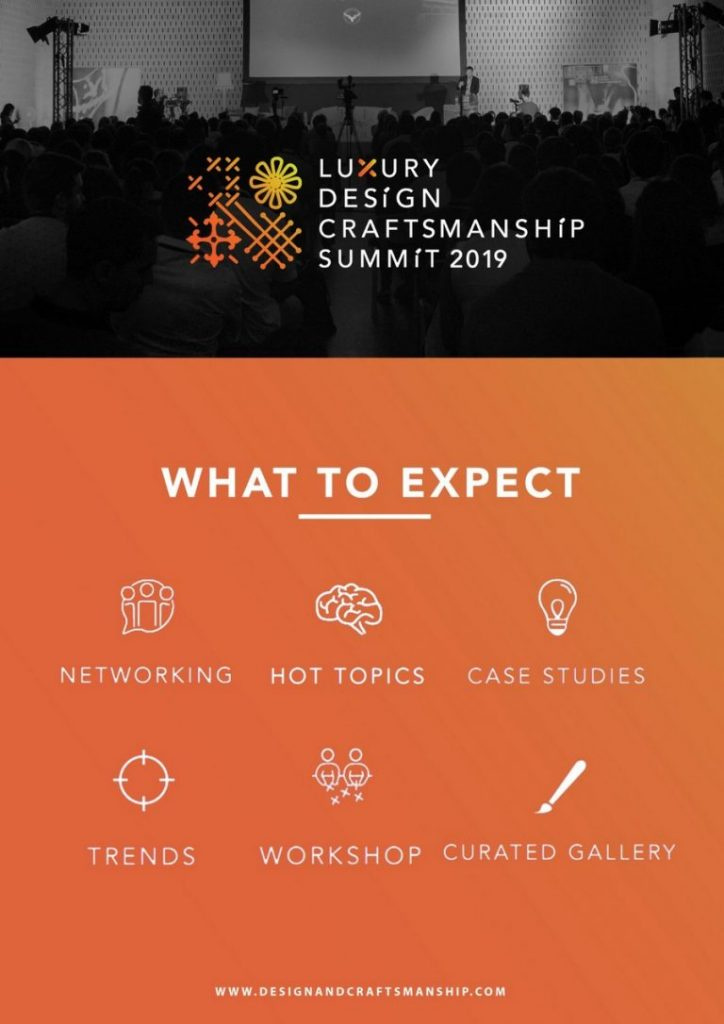 Get Ready For Luxury Design & Craftsmanship Summit 2019 summit 2019 Get Ready For Luxury Design & Craftsmanship Summit 2019 Get Ready For Luxury Design Craftsmanship Summit 2019 2