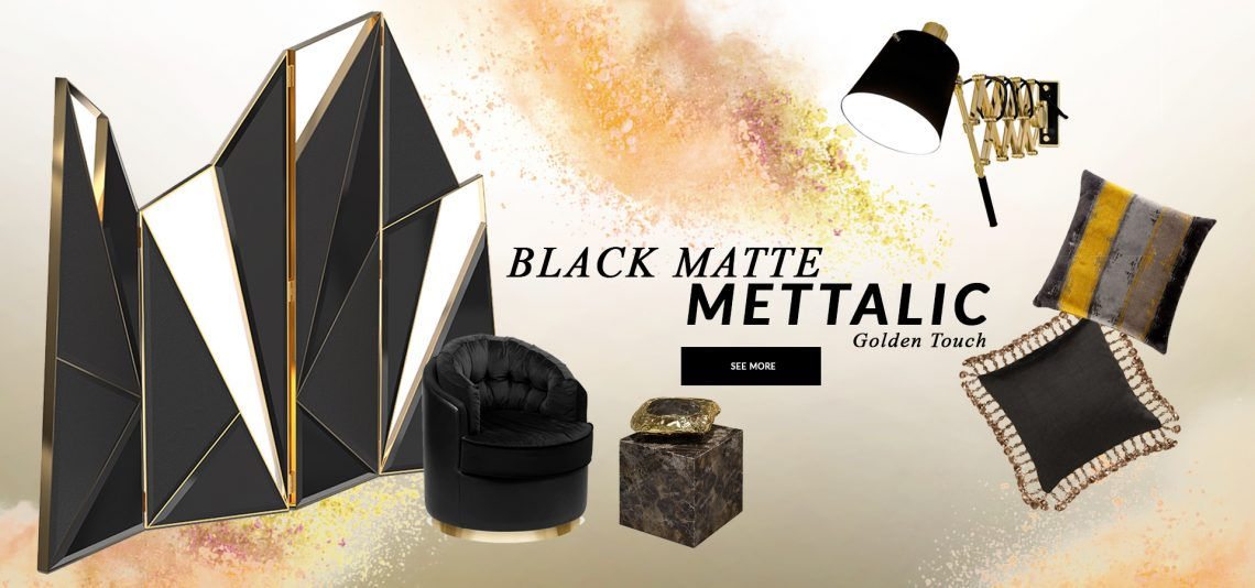 Design Trends 2020: Black Matte Mettalic With A Golden Touch  black matte mettalic Design Trends 2020: Black Matte Mettalic With A Golden Touch  design trends 2020 black matte mettalic golden touch 1 scaled