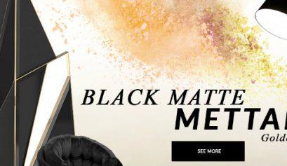 black matte mettalic Design Trends 2020: Black Matte Mettalic With A Golden Touch design trends 2020 black matte mettalic golden touch 409x237