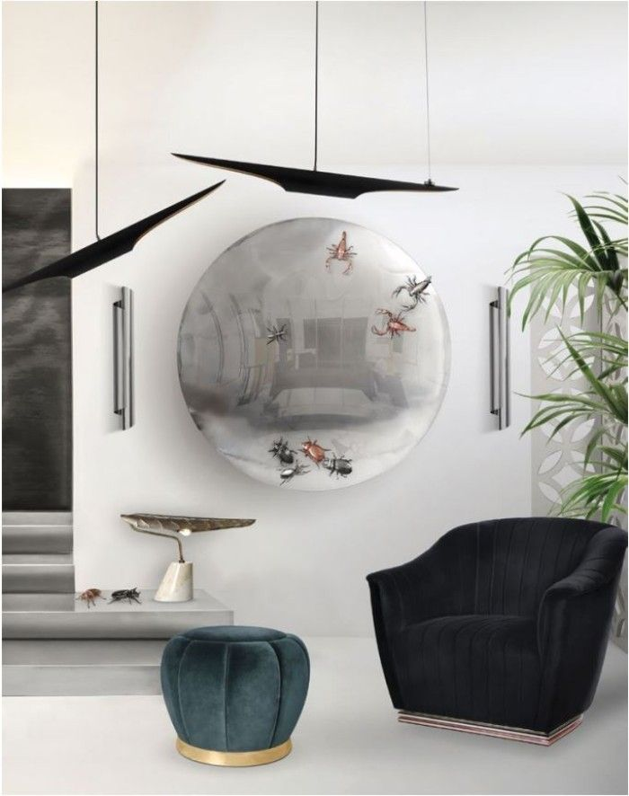 metallics Metallics: The 2020 Trend Your Wall Mirrors Need metallics 2020 trend wall mirrors need 4