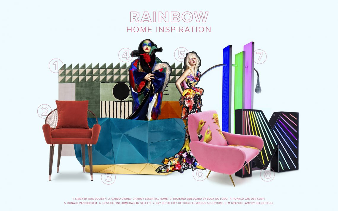 rainbow home inspiration Rainbow Home Inspiration: Colorful Decor Ideas rainbow home inspiration colorful decor ideas 1 scaled